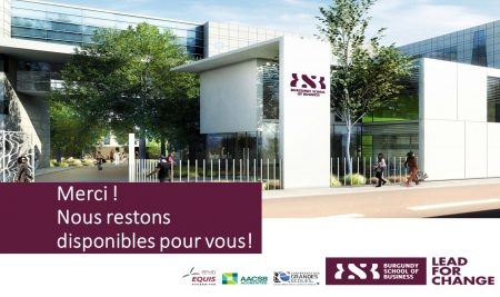 Septembre 2020 : rentrée en présentiel à la Burgundy School of Business !